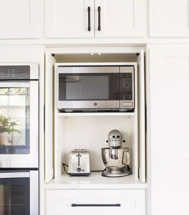 Kitchen Appliance Garage. Photo by Instagram user @heartandhomedesignco