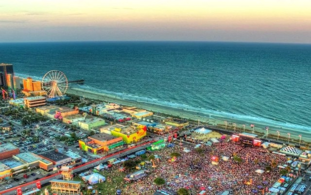 Aerial View of Downtown Myrtle Beach, SC. Photo by Instagram user @beachvacationsmyrtlebeach