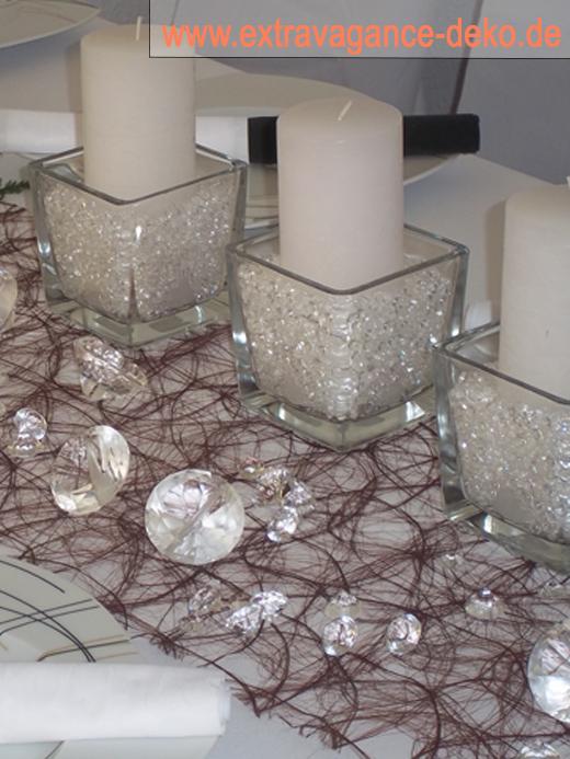 Tischdeko Diamanten