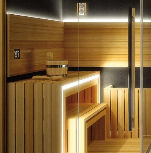 Jacuzzi Sasha  Luxury Home Spa Combines a Sauna Shower