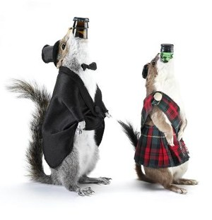 End of History - beers stuffed in small woodland creatures