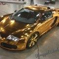 Metro wrapz gold chrome vinyl wrapped bugatti veyron extravaganzi