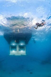 Sleep Beneath Indian Ocean - Manta Resort Underwater