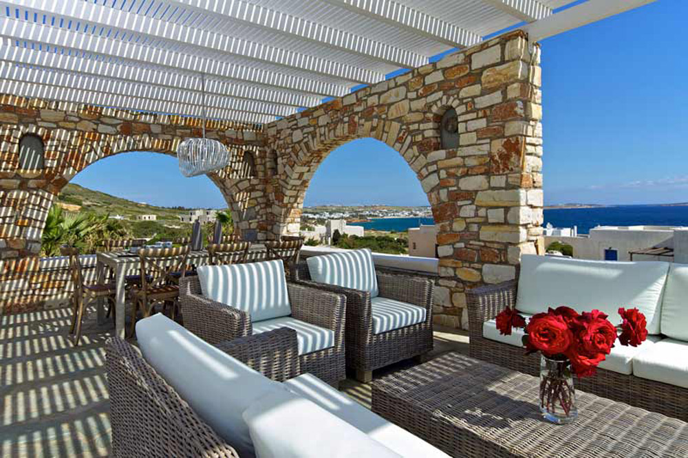 dining room chairs nz dinette sets with caster villa almyra - luxury getaway in paros island, greece extravaganzi
