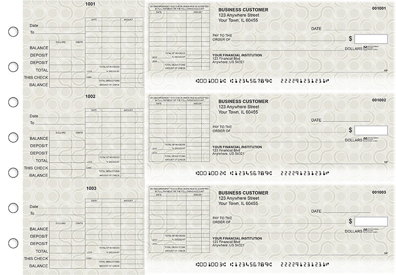 General Itemized Invoice Business Checks