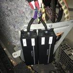Amplifiers on factory bracket.