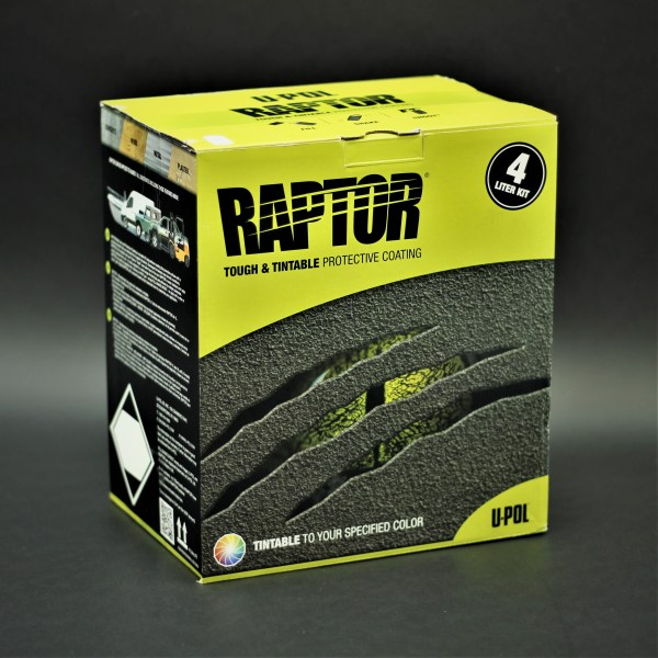 UP0821 - Raptor Spray-On Bedliner 4-Liter Kit (Tintable)