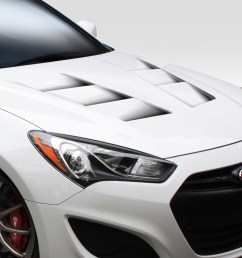 2015 hyundai genesis 2dr hood body kit 2013 2016 hyundai genesis coupe 2dr duraflex  [ 1200 x 800 Pixel ]