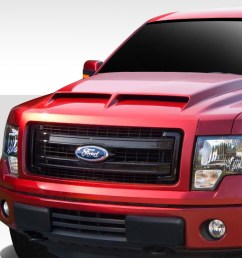welcome to extreme dimensions inventory item 2009 2014 ford f 150 duraflex gt500 hood 1 piece [ 1200 x 800 Pixel ]