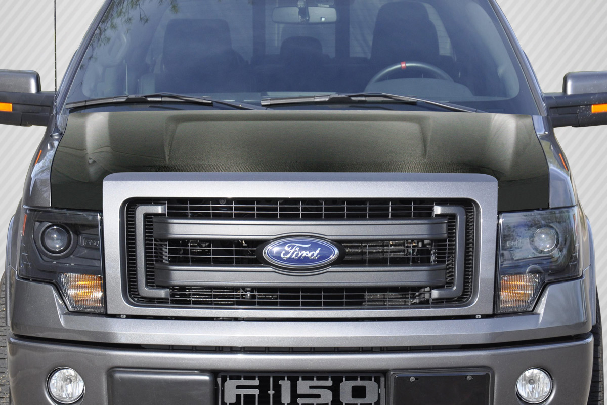hight resolution of welcome to extreme dimensions inventory item 2009 2014 ford f 150 carbon creations dritech oem look hood 1 piece