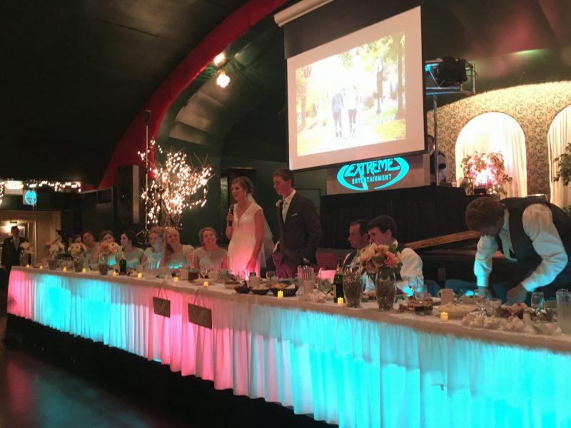 Uplighting ceremony lights
