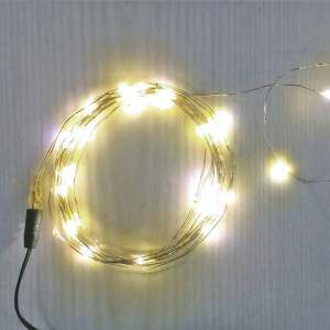 100 Warm White Fairy Light LEDs on Copper Wire