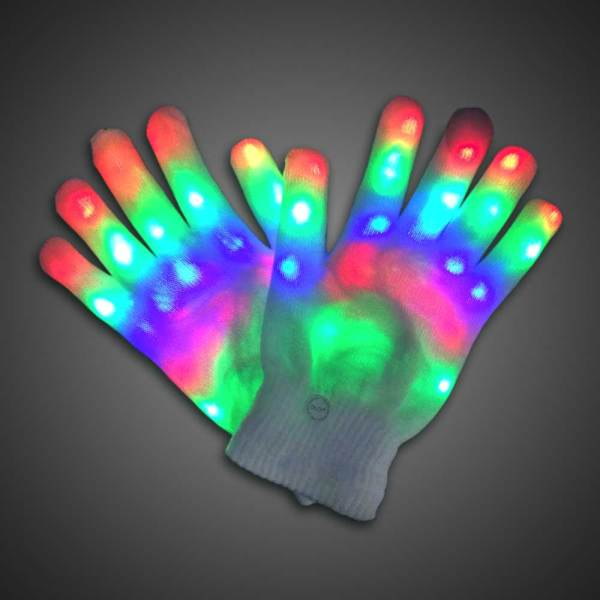 Rainbow Sparkling Led Lighted Gloves