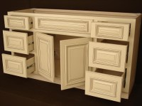 Heritage White RTA Bathroom Cabinets Vanity Unit V6021DD