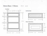 Glazed Rope Drawer Base Cabinet DB18