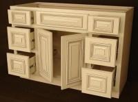 Heritage White RTA Bathroom Cabinets Vanity Unit V4821DD