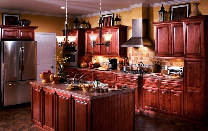 Lexington Cabernet Cabinet All Wood Construction