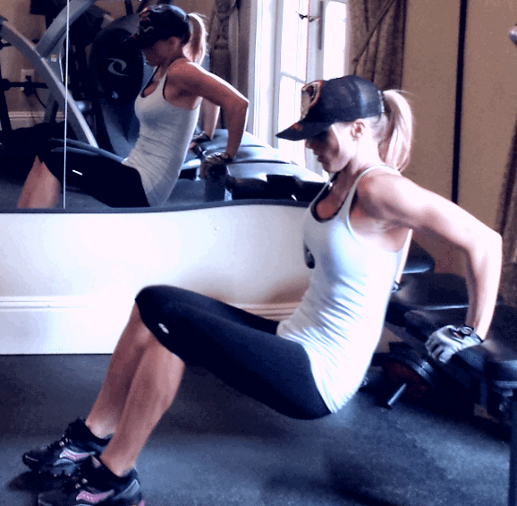 Ashley Robertson shoulders and arms