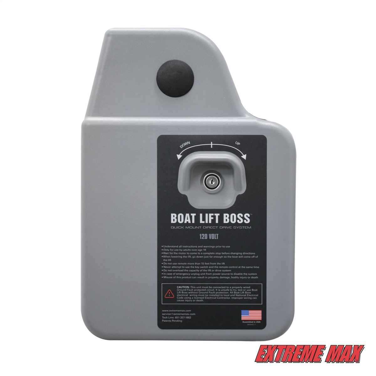hight resolution of extreme max 3006 4509 boat lift boss direct drive system 120v home smoke detector wiring boat wiring 120v