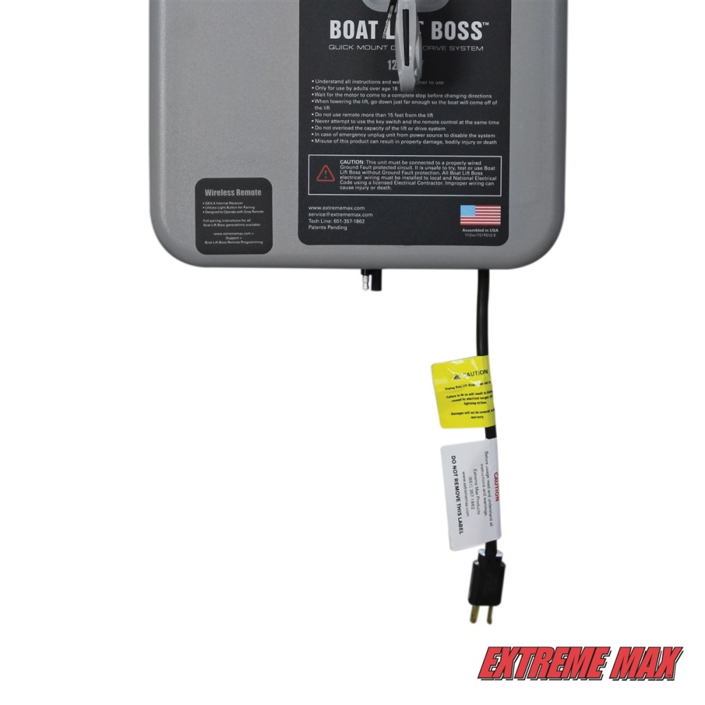 medium resolution of extreme max 3006 4512 boat lift boss direct drive system 120v w wireless remote