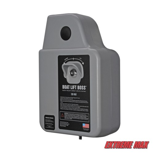 small resolution of extreme max 3006 4512 boat lift boss direct drive system 120v w wireless remote