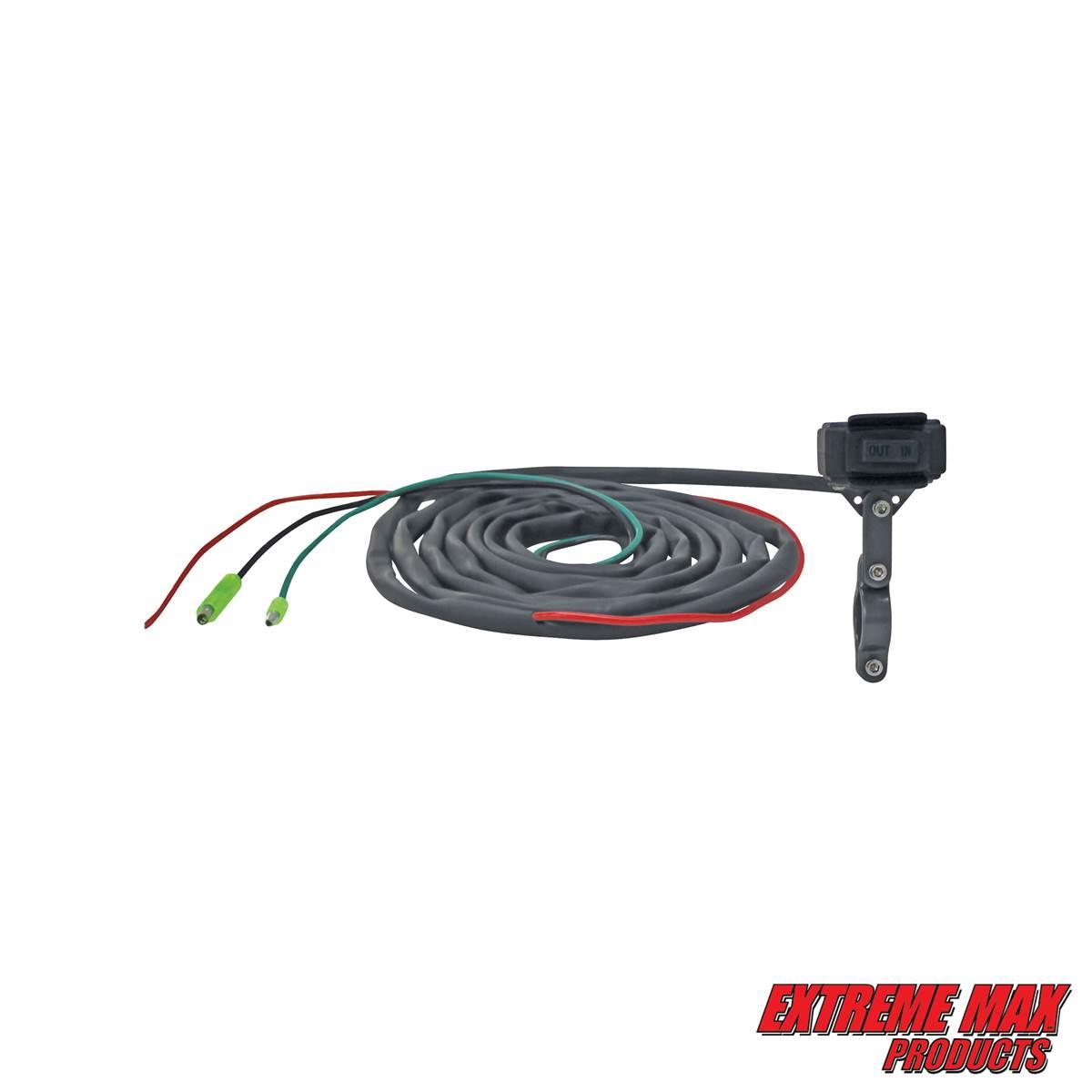 hight resolution of extreme max 5600 3175 universal waterproof atv winch handlebar remote rocker switch