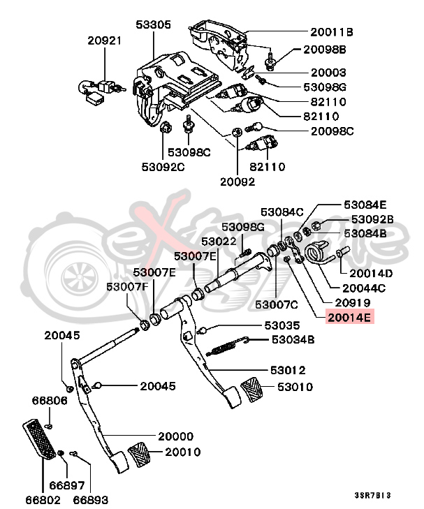 2001 Mitsubishi Eclipse Parts Diagram Gear Shift