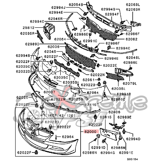 2000 Ford Focus Front Bumper Parts Diagram. Ford. Auto
