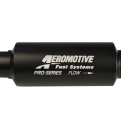 aeromotive pro series in line fuel filter 100 micron stainless steel element orb 12 ports  [ 1200 x 800 Pixel ]