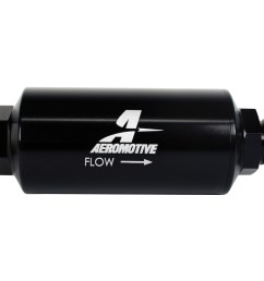 aeromotive in line fuel 100 micron stainless steel filter male 10an  [ 1200 x 800 Pixel ]
