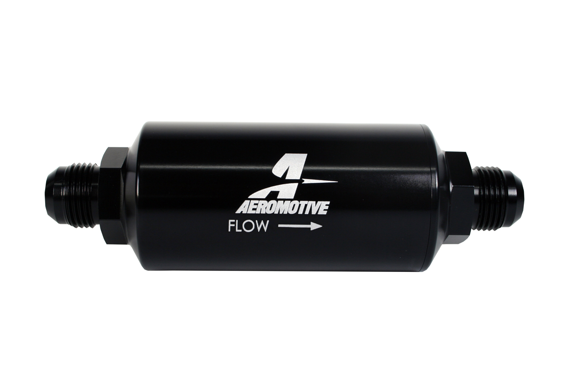 hight resolution of aeromotive in line fuel 100 micron stainless steel filter male 10an