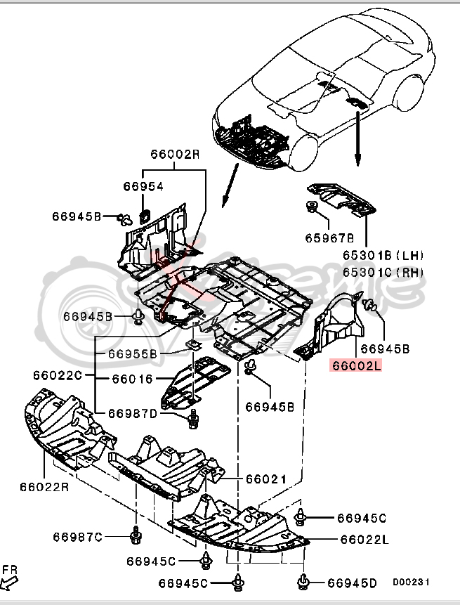 Mitsubishi Part Diagram