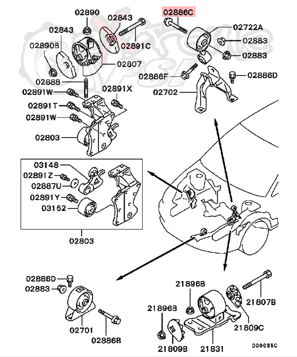 95 Eclipse Engine Parts Diagram 1993 Mitsubishi Eclipse