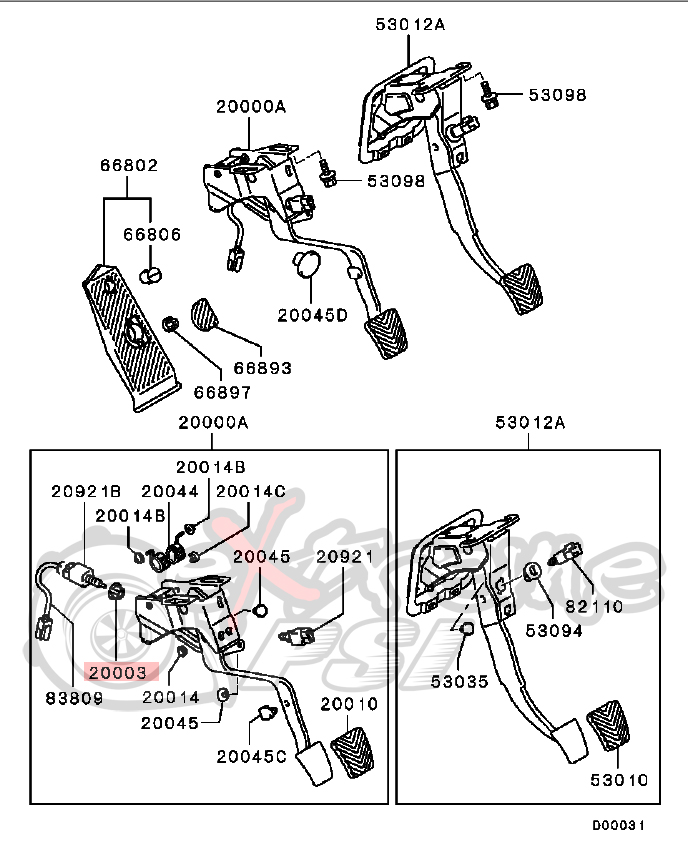 2003 Mitsubishi Lancer Clutch Master Cylinder Diagram