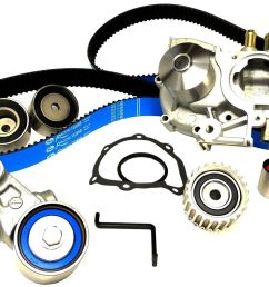gates complete quot racing quot timing belt kit with water pump subaru wrx ej20 02 03 24393 [ 1500 x 1043 Pixel ]