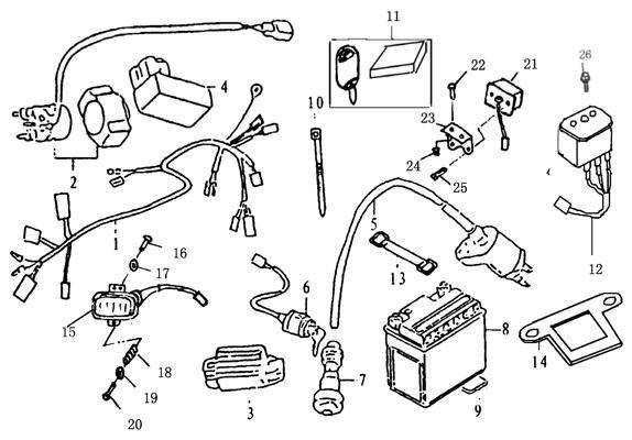 Zongshen 125cc Wiring Diagram