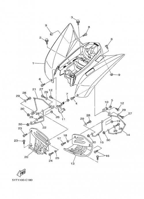 Carrosserie arrière adaptable pour quad yamaha 350 raptor