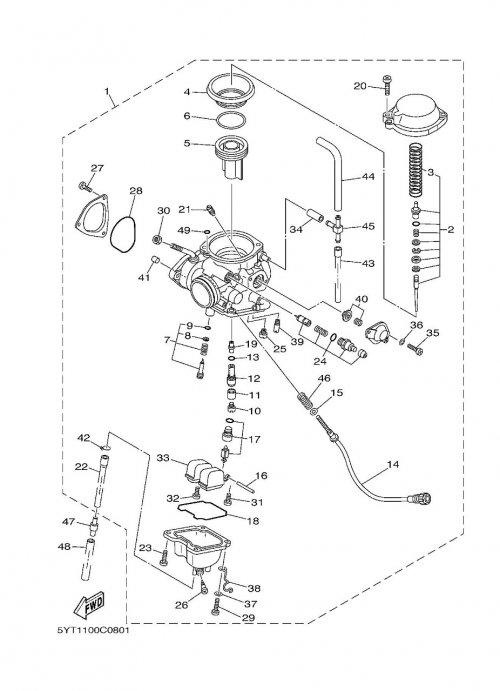Carburateur adaptable pour quad yamaha 350 raptor