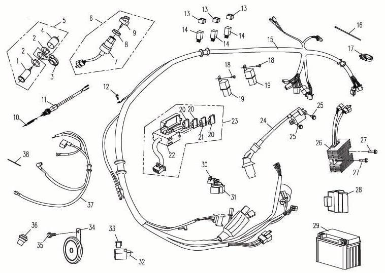 Schema Faisceau Electrique Quad 110cc