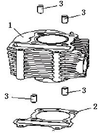Eclate pieces detachees cylindre scooter keeway matrix 125