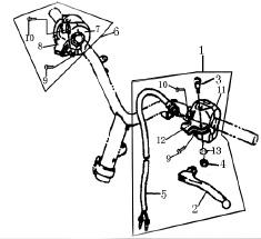 Eclate pieces detachees commodos scooter keeway matrix 125
