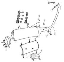 Eclate pieces detachees echappement scooter keeway matrix