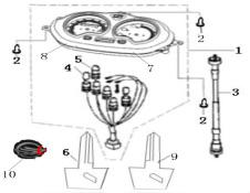 Eclate pieces detachees compteur analogique scooter keeway