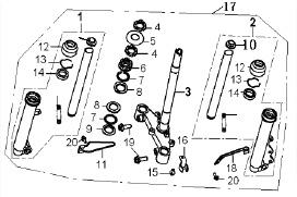 Eclate pieces detachees fourche scooter keeway fact 50