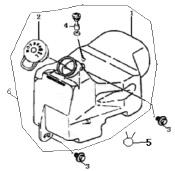 Eclate pieces detachees reservoir huile scooter keeway