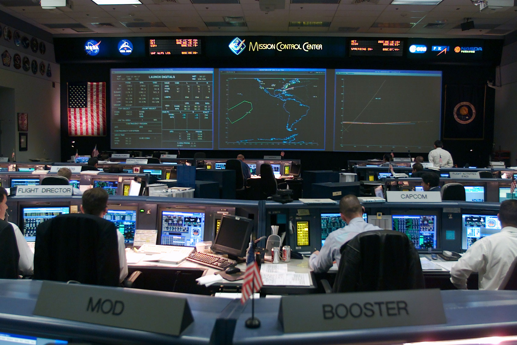 NASA Mission Control Room Pics About Space