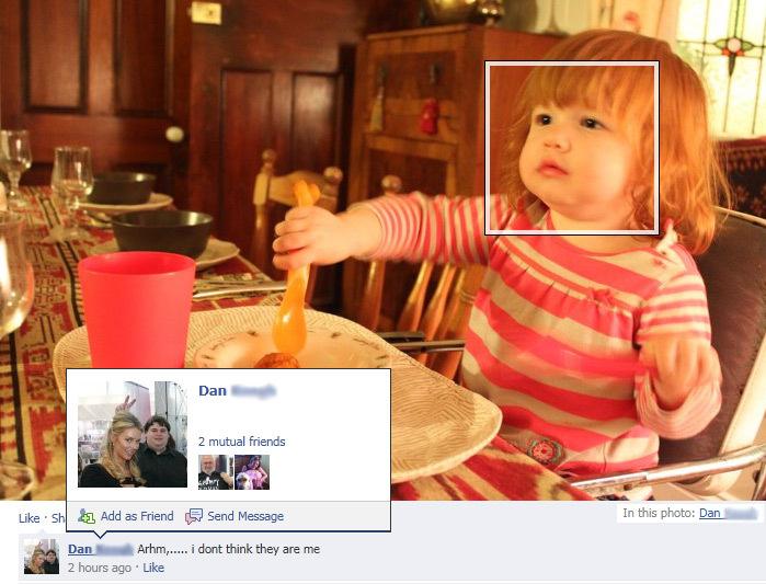 Facebook facial recognition fail