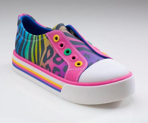 Clarks printed tekkie shoe
