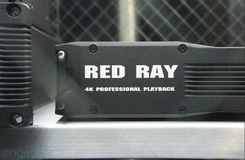 Red Ray 4K cinema laser projector on display at NAB Show