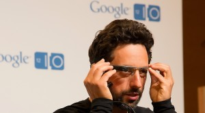 Sergey Brin wearing prototype Google Glass